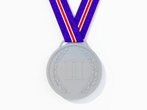 Srebrny medal ilustracja wektor