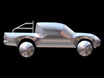 srebrny samochód Zdjęcie Stock