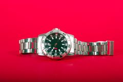 srebrny zegarek Zdjęcie Stock