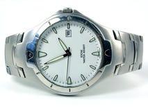 srebrny zegarek Obrazy Stock