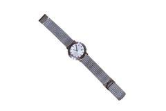 srebrny zegarek człowieku Obraz Royalty Free