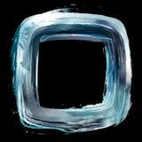 Srebro. Abstrakcjonistyczny projekta element. Kwadratowa rama malujący dowcip Zdjęcie Royalty Free