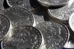 srebro dolarów. zdjęcia stock