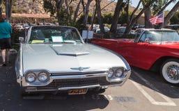 Srebro 1963 Ford Thunderbird Obrazy Royalty Free