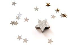 Srebro gwiazdy Zdjęcie Royalty Free