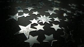 srebro gwiazdy Obraz Royalty Free