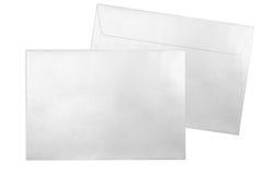 Srebro koperty odizolowywać na białym tle Fotografia Stock