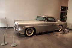 Srebro 1957 Lincoln Kontynentalny Mark II Zdjęcia Royalty Free