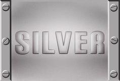 srebro metalu talerza srebro royalty ilustracja