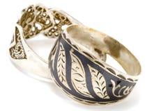 srebro pierścionek dwa Zdjęcia Royalty Free