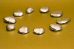 srebro pomalowane kamienie Obraz Royalty Free