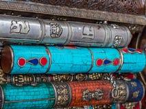 Srebro, turkus, Koralowe pamiątki w Nepal Zdjęcie Royalty Free