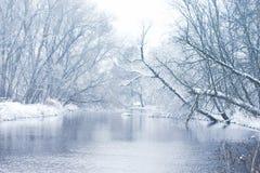 Srebrzysta rzeka Obrazy Stock