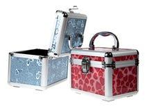 srebrzysta walizka Obrazy Stock
