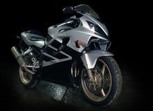 Srebrzysty motocykl Fotografia Royalty Free