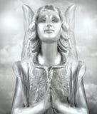 Srebrzysty opiekunu anioł zdjęcia royalty free
