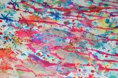 Srebrzysty złocisty zmrok - błękitnej gwiazdy pastelowy zamazany zmrok burnt punkty, abstrakcjonistyczni akwarela pastelu odcieni Obrazy Stock