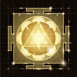 Sree  Ganapati Yantra. Sacred Geometry Stock Photos