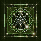 Sree  Ganapati Yantra. Sacred Geometry Stock Photo