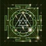Sree  Ganapati Yantra. Sacred Geometry Stock Photo