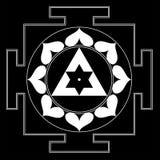Sree Ganesha Yantra. Sree Ganesha Mandala Yantra White  and  Black Stock Photos