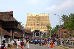 Sree Padmanabhaswamy寺庙。特里凡得琅(特里凡德琅),喀拉拉,印度 免版税库存照片