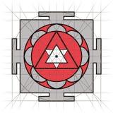 Sree Yantra геометрия священнейшая иллюстрация штока