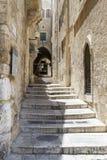 Sreet av Jerusalem den gamla stadsgränden israel Arkivfoto