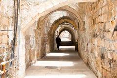 Sreet av Jerusalem.Israel Arkivbild