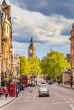 Sreet de Whitehall em Londres Imagem de Stock Royalty Free