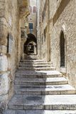 Sreet of Jerusalem Old City Alley . Israel stock photo