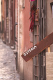 Sreet in Trastevere district. A street view from Trastevere historic district in Rome Royalty Free Stock Photo