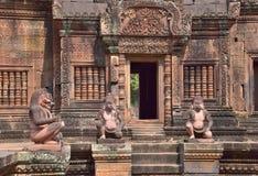Srei Banteay, ναός σε Angkor Wat Στοκ Εικόνες