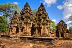 Srei de Banteay, Angkor, Cambodia. Imagem de Stock