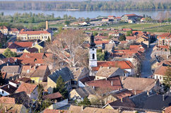 Sremski Karlovci city, the view on the town. Sremski Karlovci is a town and municipality in Serbia, in the autonomous province of Vojvodina, situated on the bank Royalty Free Stock Photos