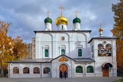 Sretensky修道院在莫斯科 图库摄影