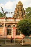 Sri卡利市印地安寺庙在仰光 免版税库存照片