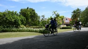 Sri洛坤Khuean可汗公园和植物园或者khung轰隆kachao公园在萨穆特Prakan,泰国 股票录像