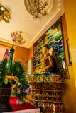 Sri Ariyamettai佛教圣徒在Wiangkalong文化城市 库存图片