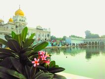 Sri bangla sahib gurudwara new delhi stock photography