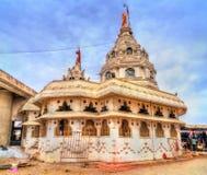 Sri Bhadra Maruti, en hinduisk tempel i Khuldabad, Indien Royaltyfria Foton