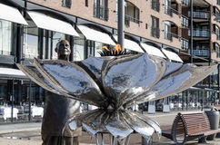 Sri Chinmoy statue on Aker Brygge Stock Image