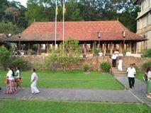 Sri Dalada Maligawa nello Sri Lanka fotografie stock