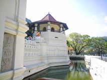 Sri Dalada Maligawa. Or the Temple of the Sacred Tooth Relic is a Buddhist temple in the city of Kandy, Sri Lanka.  which houses the relic of the tooth of the royalty free stock photography