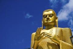 sri för lanka för buddha dambulla guld- Royaltyfri Foto