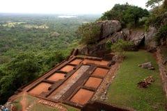 sri för sigiriya för lankalionrock s Royaltyfria Bilder