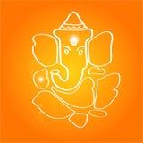 Sri Ganesha - Hindoese deity Stock Afbeeldingen