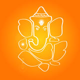 Sri Ganesha - la deidad hindú Imagenes de archivo