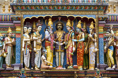 Sri Krishnan hinduiskt tempel - Singapore Arkivfoton