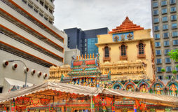 Sri Krishnan Temple in Singapore Stock Image